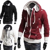 Men's Slim Fit Stylish Coats Jackets 4 Size 3 Color MU1017