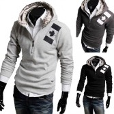 Men's Stylish Slim Fit Jackets Coats 4 Size Grey Black MU1020