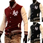 Men's Stylish Slim Fit Jackets Coats Hoody Size XS~L 4 Color MU1031