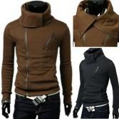 Men's Stylish Slim Fit Jackets Coats Hoody 4 Size 3 Color MU1034