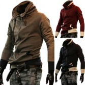 Men's Stylish Slim Fit Jackets Coats Hoody 4 Size 3 Color MU1035