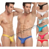 Sexy Men's Low Rise Bikini Thong G-string Underwear Enhance Bulge Pouch T-back MU1115