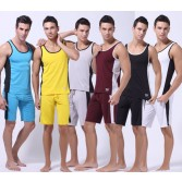 New Fashion 6 Colors Men's Comfortable Undershirt Casual Sports Running Tank Top Shirt Underwear Size S M L MU169