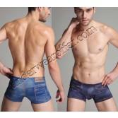 Sexy Men'S Cowboy Style Boxers Underwear Shorts Imitation Cowboy Boxer Briefs MU1904