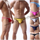 New Sexy Men's Mini Bikini T-back Underwear Bulge Pouch Thong Breath Holes G-string Size M L XL Offer  7 Color Available MU1922
