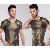 NEW Fashion Men's Cool Shining Top Underwear Soft T-shirts Asia Size M L XL 2 Colors MU1932
