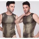 NEW Fashion Men's Cool Shining Tank Top Underwear Soft Vests Asia Size M L XL 2 Colors MU1933