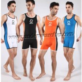 Sexy Men's Sports Fitness Bodybuilding Underwear Wrestling Singlet Leotard Vest MU1934
