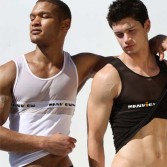 New Sexy See-Through Men's Underwear Tank Top MU236