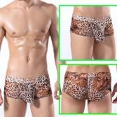 U-Briefs Sexy Leopard Men's Small Mesh Underwear Briefs Boxer MU313M L XL