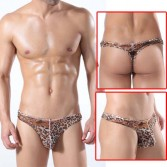U-Briefs Sexy Leopard Men's Small Mesh Underwear T-Back MU315 M L XL