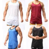 Sexy Men's Casual Sports Running T-Shirts Fashion Tank Tops Vests Undershirt With Breath Hole MU330 M L XL