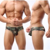 Men's Low Rise U-Brief Camouflage Underwear Mini Boxer Brief Sexy Bikinis Boxer Briefs MU333 M L XL