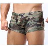 Men's U-Brief Camouflage Underwear Boxer Brief Shorts Bulge Pouch Sexy Underwear MU334 M L XL