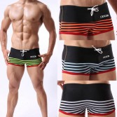 Sexy Men's Low Rise Stripe Boxers Briefs Swimwear Boxers Shorts Comfy Swimming Trunks M L XL 2XL 4 Colors For Choose MU342