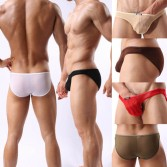 Men's Sexy See Through Mesh Low Rise Underwear Bulge Small Mesh Holes Briefs 6 Colors 3 Size Offer MU348