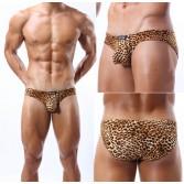 Men'S Sexy Soft Leopard Underwear U-Briefs Bikini Brief Bulge Pouch Briefs MU338 Size M L XL For Choose