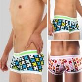 U-Briefs Sexy Men's Cotton Underwear boxer brief shorts MU815 S XS M