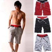 Korean Mens Jogging Jogger Casual Half Pants Shorts MU877