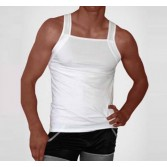 New Sexy Men's Underwear Tank Top Vest Size M L White MU880