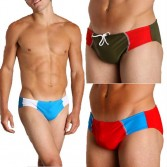 New Men's sexy low rise Briefs Swimwear Size M L XL MU889
