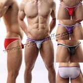 Brand New Sexy Men's Thin See-through Mesh Underwear Comfy Sheer Pouch Mini Bikinis Briefs Asia Size M L XL 4 Colors For Choose MU1953