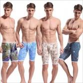 Fashion Brand Cotton Men's Pattern Fifth Pants Casual Cropped Trousers S M L XL MU1868