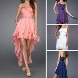 Bridesmaid Prom Party Ball Dovetail Evening Cocktail Dress EC01
