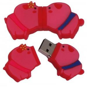 Cute 8GB/16GB/32GB Pink Kissing Pig Pair USB Flash Memory Stick Lover Pigs Pen Drive U-Disk EU66
