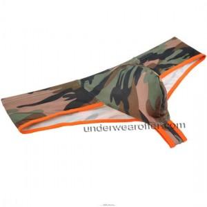 Men Camouflage Cheeky Booty Underwear Hobble Skirt Briefs Mini Cut Boxers Thong MU336X