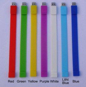 Coloful Fashion Wristbelt Bracelet U-Dis 8GB/16GB/32GB USB Drive Flash Memory Stick  EU59