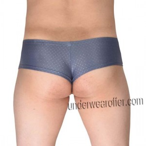 Men's Shiny Stretchy Boxers Thong NFL Underwear Bulge Pouch Brazilian Bikini MU707