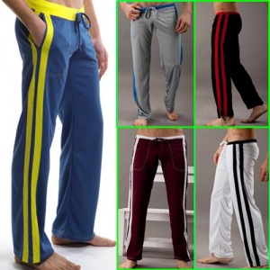 Men's Low Rise Sport Sweat Pants Gym Athletic Slim Fit lounge Homewear trousers MU150 S M L XL