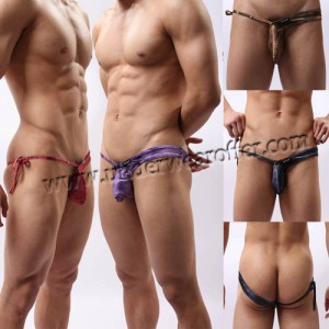 Popular New Sexy sheer mens thongs and g strings Low Rise Sexy Underwear Men's Underpants Tanga