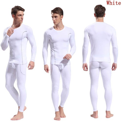 Bamboo Fiber Men's Long Sleeve & Long Johns Thermal Underwear Set ...