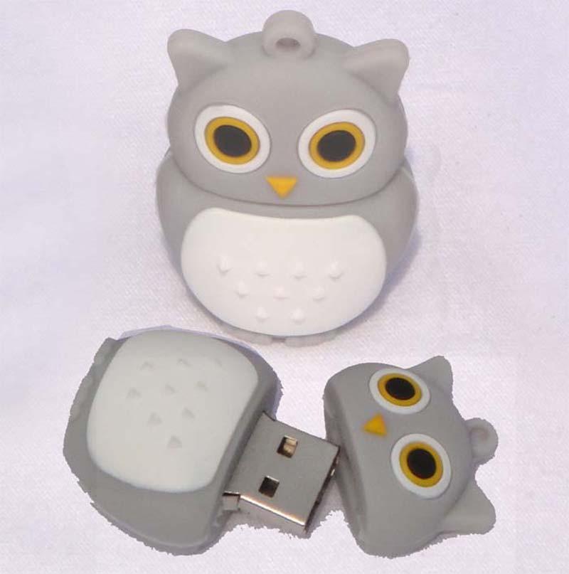 Coloful Cute Owl Shaped 8gb 16gb 32gb Memory Stick Animal