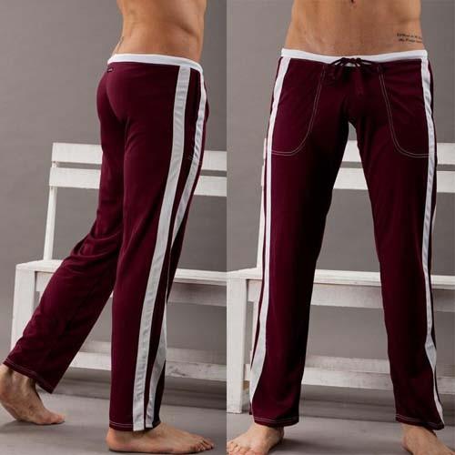 Mens Low Rise Sport Sweat Pants Gym Athletic Slim Fit -9650
