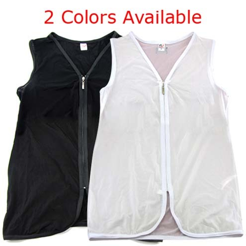 Mens Front Open Undershirt T Shirts Tank Tops Vests With