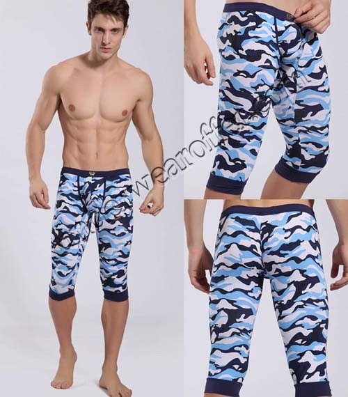 Sexy Men S Super Low Rise Camouflage Soft Shorts Underwear