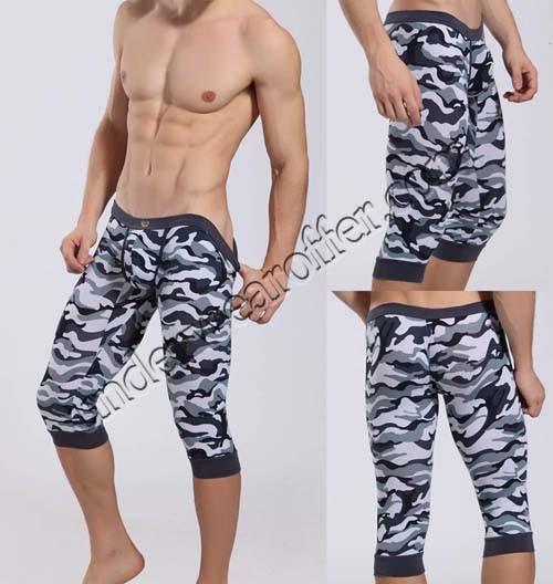 Sexy Men S Super Low Rise Camouflage Soft Shorts Underwear